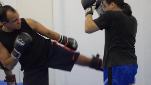 Sparring im Thaiboxen
